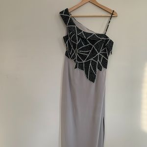 Terani Couture Grey Evening Gown